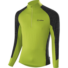 Löffler Rob Transtex Sweater met Rits Heren, lime